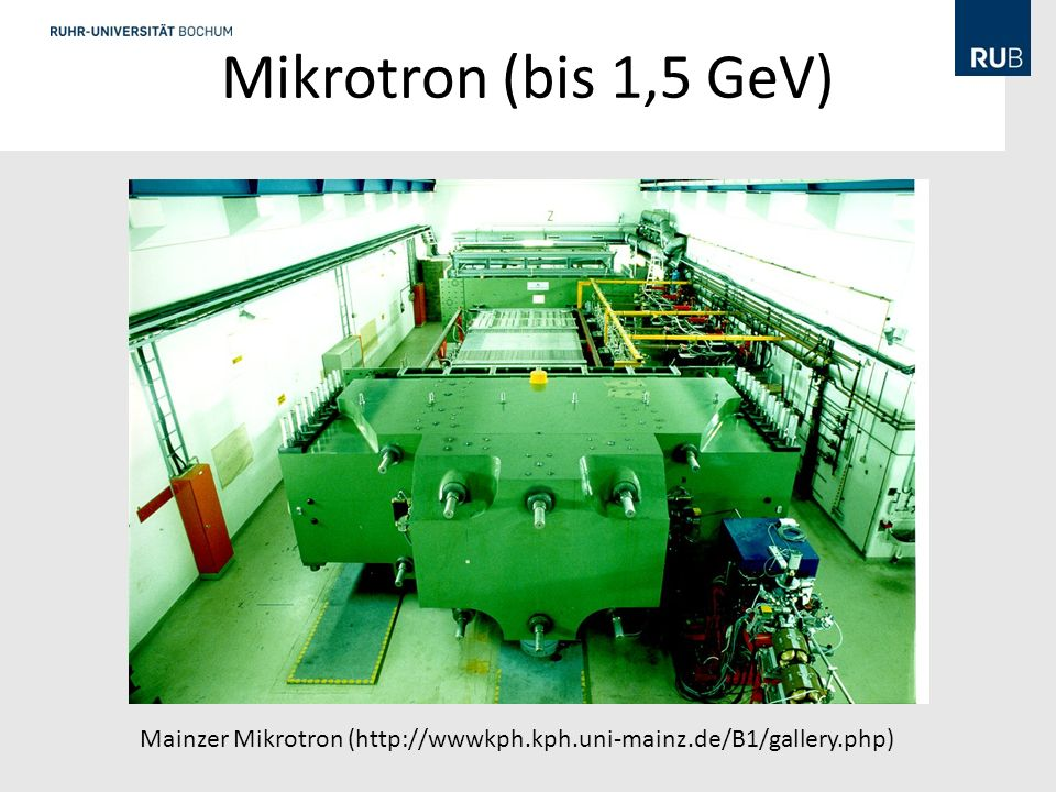 Mikrotron (bis 1,5 GeV) Klassisches Mikrotron[Bearbeiten]